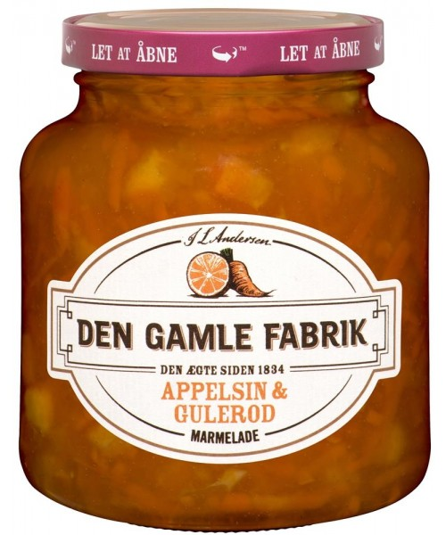 Applesin & Gulerod Marmelade (Orange & Carrot Jam) - 380 g